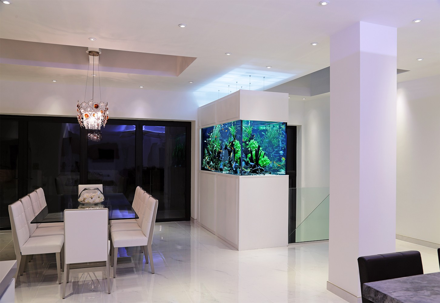 designer fish tank aquarium architecture. Black Bedroom Furniture Sets. Home Design Ideas