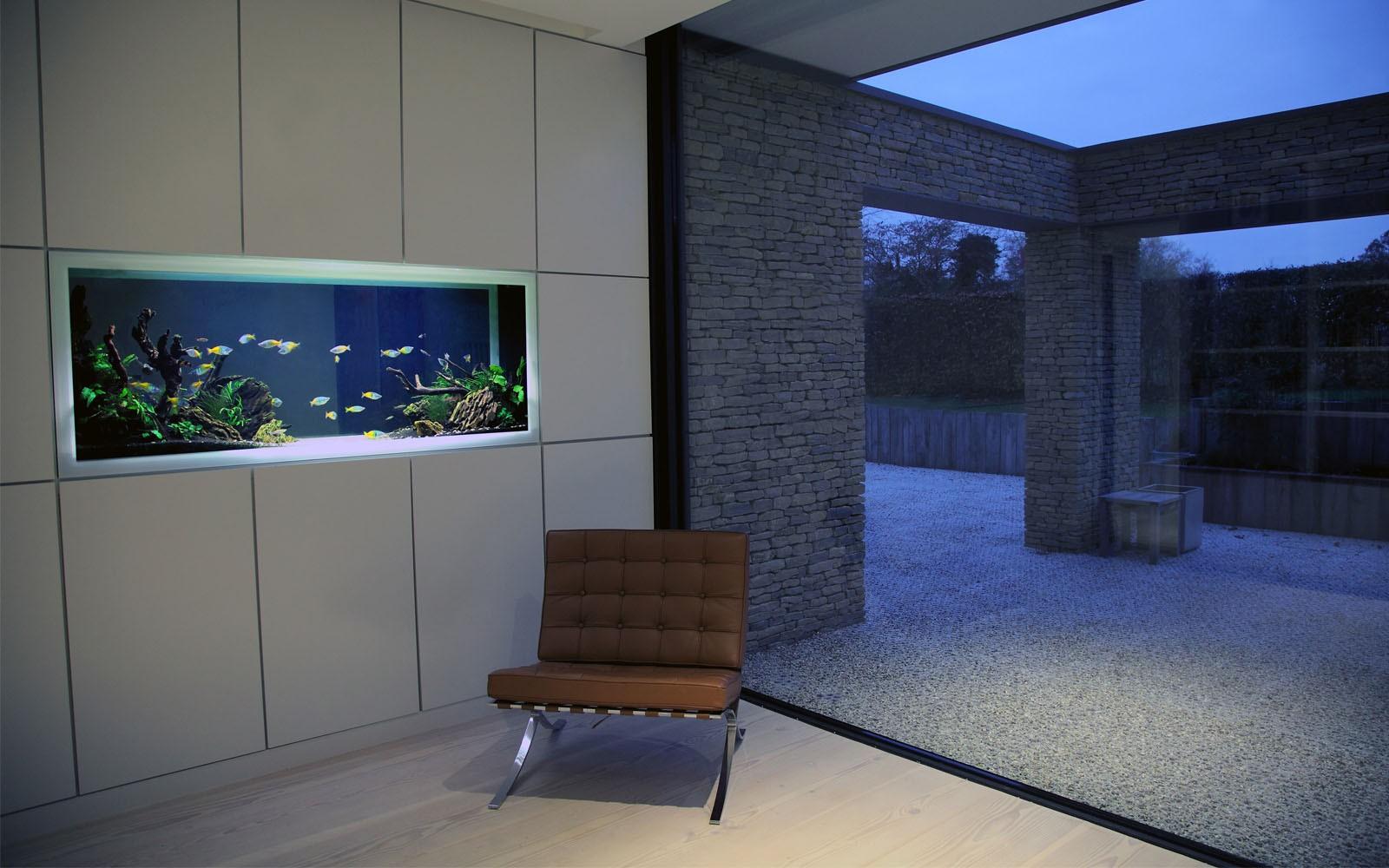 Modern Fish Tank Design Aquarium Architecture